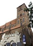 Церковь St James апостол - Торун, Польша стоковое изображение rf