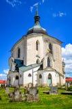 Церковь St. John Nepomuk, чехии Стоковые Изображения RF