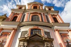 Церковь St. John Nepomuk-Kutna Hora Стоковое Изображение