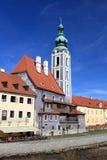 Церковь St Jost в Cesky Krumlov стоковая фотография