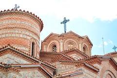 Церковь St Kliment & St Pantaleymo в македонии стоковые изображения rf