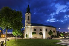 Церковь St Ladislau в Oradea стоковые фото