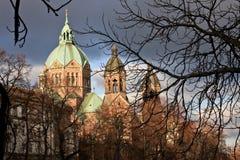 Церковь St Lukas, Мюнхен стоковые изображения rf
