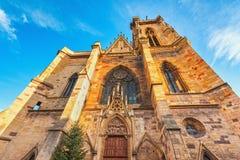 Церковь St Martin в Кольмаре, Эльзасе, Франции Стоковое Фото