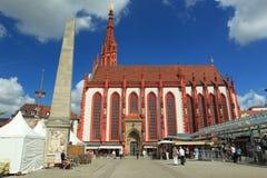 Церковь St. Mary в Wurzburg стоковые изображения