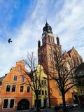Церковь St Mary и старое рыночное месте, Stargard, Польша стоковое изображение