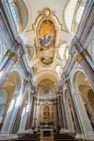 Церковь St Mary коллигативная, Anguillara Sabazia, провинция Рима, Лацио Италия Стоковое Изображение RF