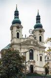 Церковь St Mary Magdalene, Karlovy меняет Стоковые Фотографии RF