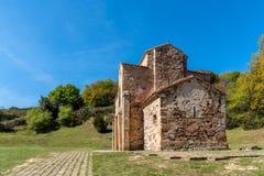 Церковь St Michael Lillo в Овьедо стоковые изображения