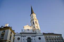 Церковь St Michaels от Michaelerplatz, вены Стоковые Изображения