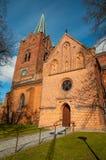 Церковь St Mikkels в центре города Slagelse в Дании Стоковая Фотография