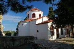 Церковь St Nicholas в городке Skiathos на греческом острове стоковые изображения