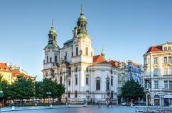 Церковь St Nicholas в Праге, чехии Стоковое Изображение