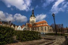 Церковь St Nicholas в Таллине, Эстонии стоковые фотографии rf