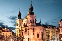 Церковь St Nicholas на Праге, чехии стоковое изображение rf