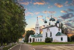 Церковь St Nicholas прервала yaroslavl Россия стоковые фотографии rf