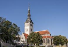 Церковь St Nicholas, Таллин, Эстония Стоковая Фотография RF