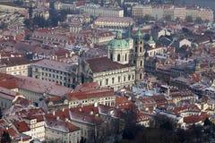 Церковь St Nicholas, Mala Strana, Прага стоковое фото rf