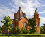 Церковь St Nicholas, Vaasa, Финляндия стоковые изображения rf