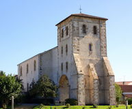 Церковь st-Pée-sur-Nivelle Франция стоковые фотографии rf