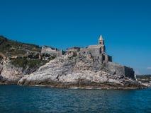 Церковь St Peter в Порту Venere стоковые изображения rf