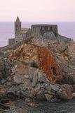 Церковь St Peter в Порту Venere Стоковые Фотографии RF
