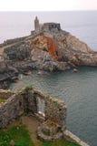 Церковь St Peter в Порту Venere Стоковое Фото