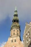 Церковь St Peter в Риге, Латвии Стоковая Фотография