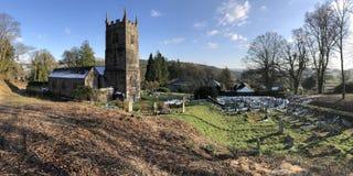 Церковь St Peter в Lewtrenchard, Девоне, Англии Стоковая Фотография