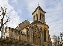 Церковь St Peter Montmartre (XVII C.), Парижа Стоковые Изображения RF