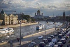 Церковь St Sophia на обваловке Софии в Москве Напротив Кремля, на обваловке Софии, церковь ic Стоковая Фотография