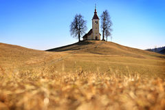 Церковь St. Thomas, Словения Стоковая Фотография
