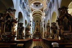 Церковь St. Thomas (чех: ¡ E ¡ Å Tomà svatého Kostel) Augustinian церковь в ¡ Strana MalÃ, Праге, чехии стоковые фото