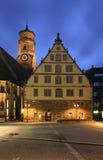 Церковь Stiftskirche коллигативная в Штутгарте Германия стоковое изображение rf