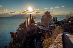 Церковь StJovan Kaneo, Ohrid, македония Стоковое Изображение RF