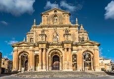 Церковь StNicholas, Siggiewi, Мальта Стоковая Фотография RF