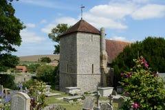 Церковь StWulfrans Ovingdean, Сассекс, Великобритания Стоковое Изображение RF