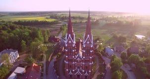 Церковь Sveksna в Литве сток-видео