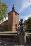Церковь Svendborg St Nikolai стоковые фотографии rf
