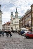 Церковь Sw Ducha на улице Dluga 3, Варшаве Стоковая Фотография