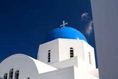 Церковь Theodori ажио Firostefani, Santorini, острова Кикладов Греция Стоковая Фотография