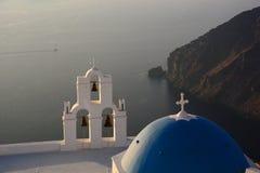 Церковь Theodori ажио Firostefani, Santorini, острова Кикладов Греция Стоковое Изображение RF