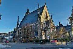 Церковь Thomaskirche St. Thomas в Лейпциге, Германии стоковая фотография rf