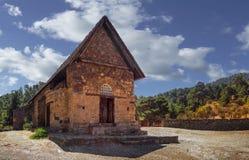 Церковь tis Asinou Panagia Nikitari Кипр стоковая фотография