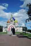 Церковь Transfiguration в Peredelkino, России Фото цвета Стоковые Изображения RF