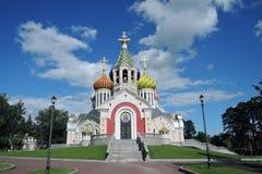 Церковь Transfiguration в Peredelkino, России Фото цвета Стоковое Изображение RF