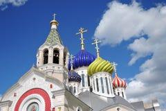 Церковь Transfiguration в Peredelkino, России Фото цвета Стоковые Фотографии RF