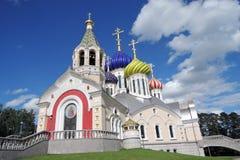 Церковь Transfiguration в Peredelkino, России Фото цвета Стоковое Фото