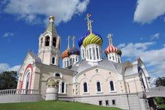 Церковь Transfiguration в Peredelkino, России Фото цвета Стоковые Изображения