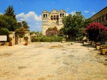 Церковь Transfiguration на держателе Таборе в Израиле Стоковые Фото